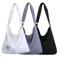 Womens Large Canvas Handbag Shoulder Bag Tote Lady Casual Work Travel Messenger