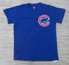 Chicago Cubs #17 Kris Bryant Majestic Blue MLB Baseball Shirt ~ Men's Small S