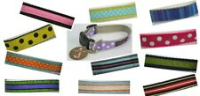 "Trish Hampton Designer Dog Collar Small 9"" to 13"" USA Handmade CHOOSE ONE"
