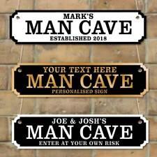 Personalised Man Cave plaque, Vintage Custom Road Sign, Husband Gift, Shed Sign