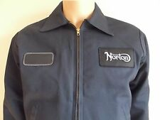 NORTON Mechanic Work Motorcycle GARAGE Jacket Coat vintage MEDIUM M cafe racer