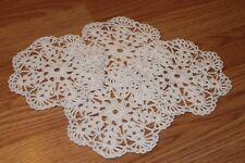 New Hand Crocheted Doily - white set of 4