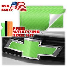 3d Carbon Fiber Matte Vinyl Wrap For Chevy Bowtie Emblem Overlay Sticker Decal