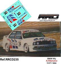 DECAL/CALCA 1/43; BMW M3; A.Villanueva; C.E.T. 1993