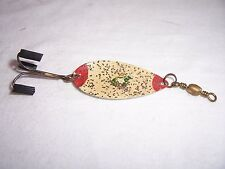 VINTAGE PFLUEGER #3 LUMINOUS FROG SPOON FISHING LURE