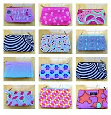12 Assorted Style CLINIQUE Cosmetic Makeup Accessories Bag Pouch, Lot 12 Bags