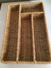 Wicker Basket Heavy Duty 4 compartments