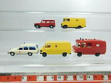 bb288-0, 5 #5x Wiking H0 / 1:87 MERCEDES-BENZ / MB: 609 Fire Brigade/FW + PTT +