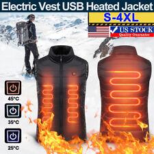 Heated Vest Warm Body Electric USB Unisex Heating Coat Jacket Winter Outwear US