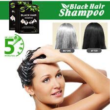 10pcs/lot Makeup Black Hair Shampoo Only 5 Minutes Grey Hair Removal  Coloring