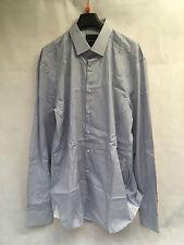 Oliver Sweeney Men's Blue Stripped Shirt. Size 16.5.