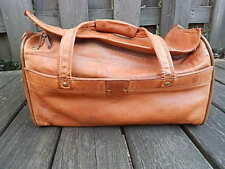VINTAGE HARTMANN LUGGAGE BROWN LEATHER DUFFLE BAG NO SHOULDER STRAP INTRNTL SALE