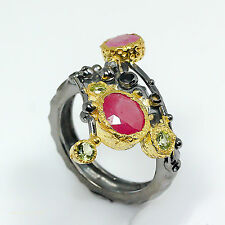 Ruby 0.925 Silver Ring Size 8