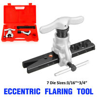 """45°Non Ratchet Eccentric Pipe Flaring Tools SAE 1//4″-//3//4/"""" Applications 9 Dies"""