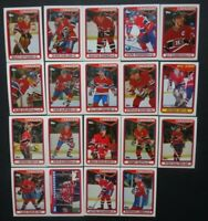 1990-91 Topps Montreal Canadiens Team Set of 19 Hockey Cards