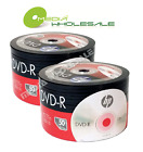 100-pack HP 16X Blank DVD DVD-R Branded Logo 4.7GB Media Disc 2x50pk