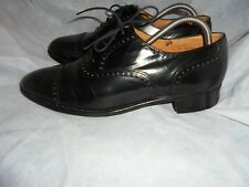 "GLENEAGLES ""HAMPTON"" MEN'S BLACK LEATHER LACE UP SHOE SIZE UK 9.5 EU 43.5 VGC"