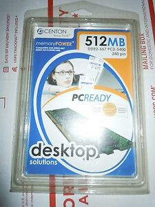 Centon 512MB DDR2-667 PC2-5400 240-pin Memory NEW/sealed in Package
