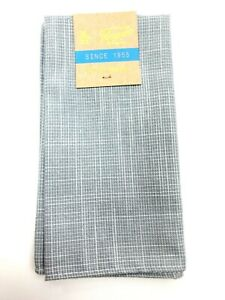 NEW PENGUIN Cotton Pocket Square Gray Blue