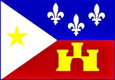 Acadiana Historical Flag 3x5 Polyester Fleur De Lis Castle Star