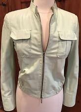 Giorgio Armani Black Label light Leather Jacket-Pale Green Size 40/6