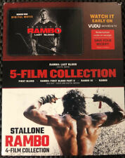 4-Film Collection First Blood & Rambo. Like New Sealed.