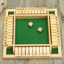 Wooden Pub Bar Traditional Four Sided 10 Numbers Board Game Dice For Kids Family