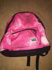 womens Pink Backpack Fabric