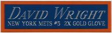 DAVID WRIGHT NY METS NAMEPLATE FOR AUTOGRAPHED Signed BASEBALL-JERSEY-BAT-PHOTO