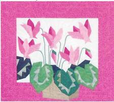 Cyclamen paper piecing quilt pattern by Eileen Sullivan of Designer's Workshop