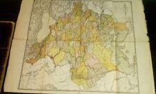 1880 Russian map Карта Европейской России Map of European Russia