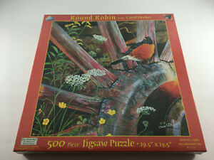 NEW Round Robin Carol Decker 500 Piece Jigsaw Puzzle SunsOut 19.5 x 19.5 SEALED