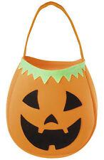 Pumpkin Handbag Halloween Trick or Treat Pumpkin Fabric Sweets Candy Bag