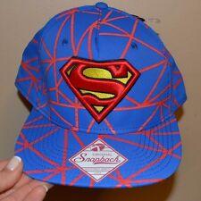 ORIGINAL SNAPBACK FlatBill Hat Superman 3-D Embroroidered Logo DC Comics