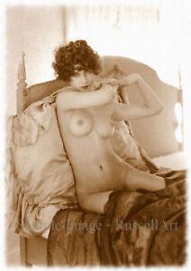 Vintage 12 Retro Erotic Nude female sepia A4 A3 A2 PHOTO EDIT REPRINT RussellArt