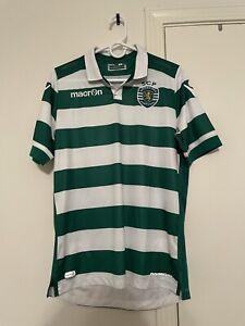 Sporting Lisbon 2015/2016 Jersey Medium Macron Home Primeira Liga Shirt