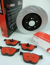 BREMBO brake pads & BREMAXX SLOTTED new disc rotors FRONT for BMW X5 E53