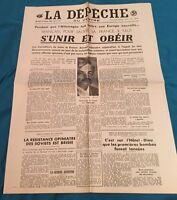 Journal La Dépêche Du 21 Octobre 1942