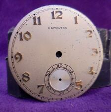 39MM Hamilton 10 size 917 921 923 Pocket Watch Dial~Solid Gold Hour markers