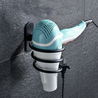 Wall-mounted Hair Dryer Stainless Steel Bathroom Shelf Storage Hairdryer Hol SE