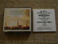 Telemann Hamburger Admiralitätsmusik 1723 - 2 CD Set - CPO - Booklet