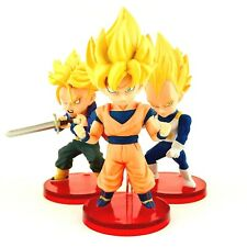 Super Saiyan Goku, Vegeta, Trunks Dragon Ball Z Banpresto WCF Figure Set