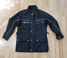 BELSTAFF Mens Military Jacket Size 36 Small Black Cotton Motorcycle Jacket