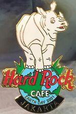 Hard Rock Cafe JAKARTA 2001 EARTH DAY PIN Rhinoceros on Globe HRC Catalog #3785