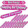 Pink Girls Holographic Age Foil Banners Birthday Party 9 Ft Long  Banner 1-50