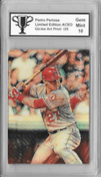 Mike Trout Pietro Pertosa Limited Edition ACEO Giclee Art Print Card 2 of 25