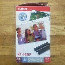 """Canon KP-108IP (3) Cartuchos de tinta de color KP-36IP Hojas De Tarjeta Post 4""""x6"""""""