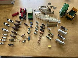 VINTAGE BRITAINS FARM Vehicles Trailers Fences Gates And Animals Job Lot