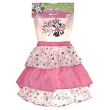 Disney Minnie Mouse Kid Girl Pink Ruffle Chef Cooking Kitchen Apron Dress Up 4+