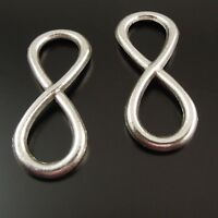 """40 pcs Antiqued Silver Alloy """"8"""" Infinity Sign Pendant Jewelry Connector 31x13mm"""